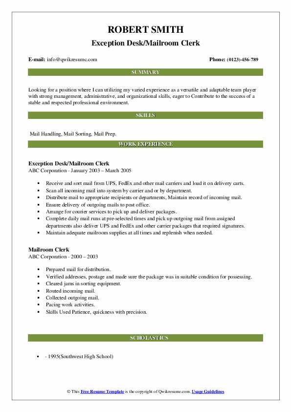 mailroom clerk resume samples qwikresume examples pdf dance for college best teacher ever Resume Mailroom Resume Examples
