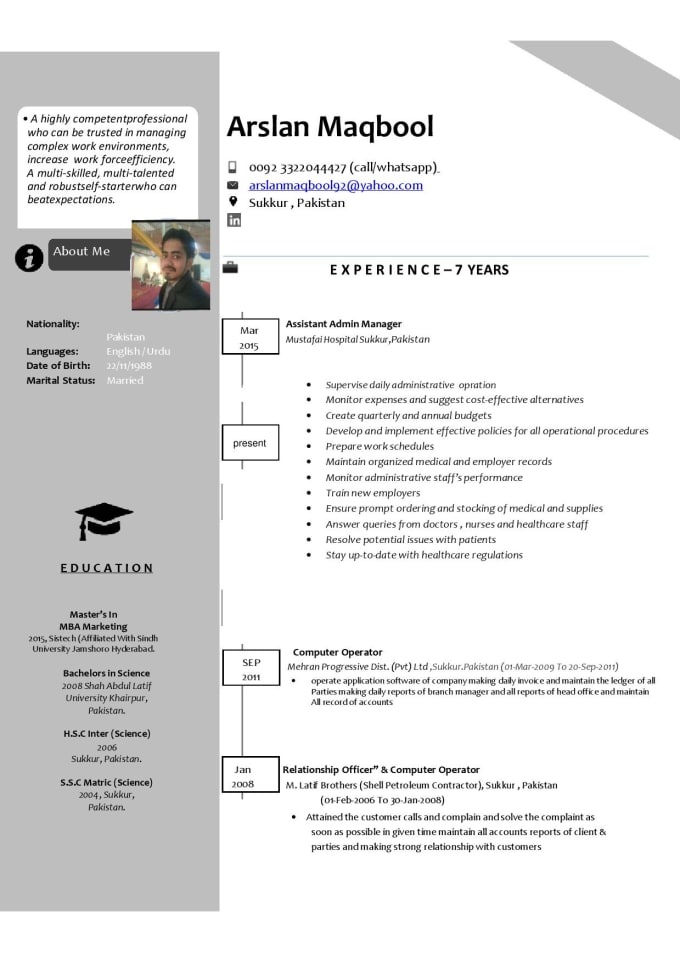 make your resume and cover letter by arslanmaq have someone salesforce experience format Resume Have Someone Make Your Resume