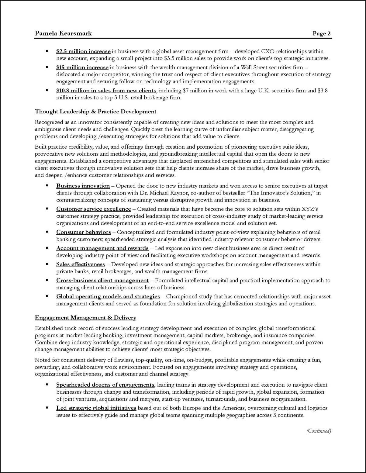 management consultant resume example distinctive career services business sample Resume Business Consultant Resume Sample