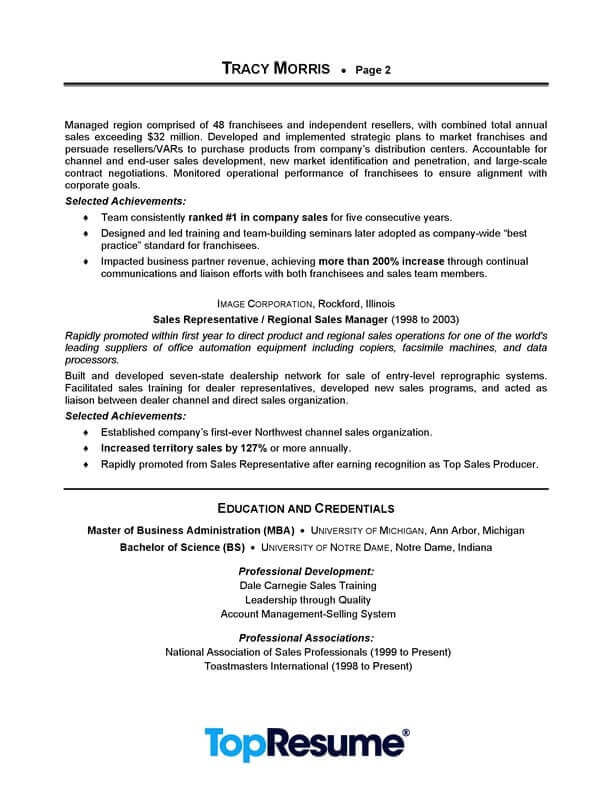 manager resume sample professional examples topresume good for position management page2 Resume Good Resume For Sales Position