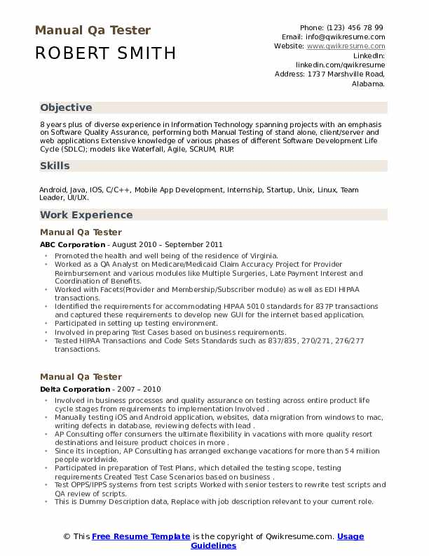 manual qa tester resume samples qwikresume testing format pdf modern style examples Resume Manual Testing Resume Format
