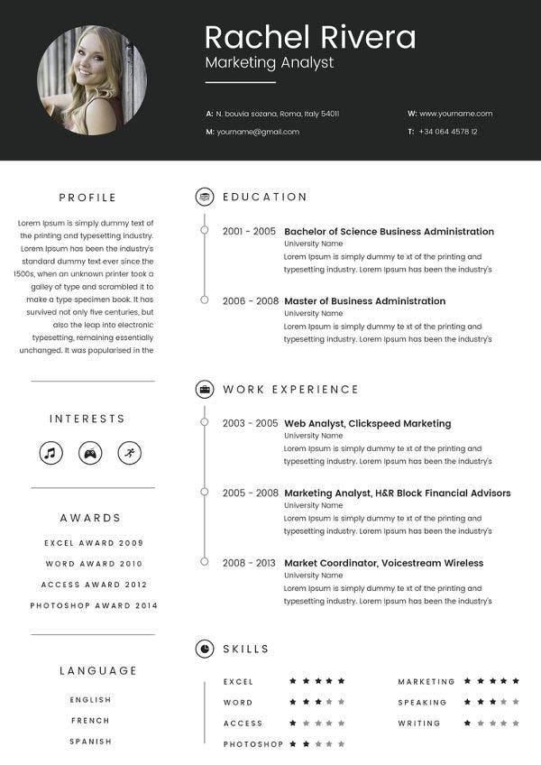 marketing analyst resume template free samples examples format premium templates asnt Resume Marketing Analyst Resume