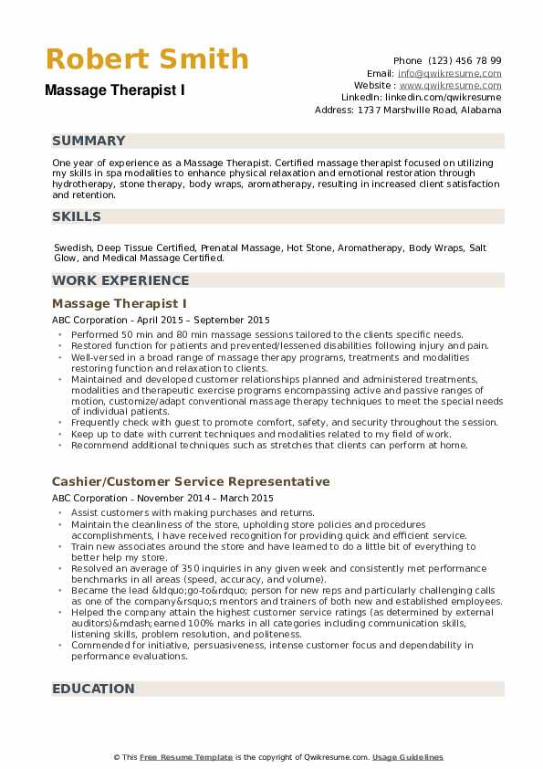 massage therapist resume samples qwikresume objective pdf billing and coding can you lie Resume Massage Therapist Resume Objective