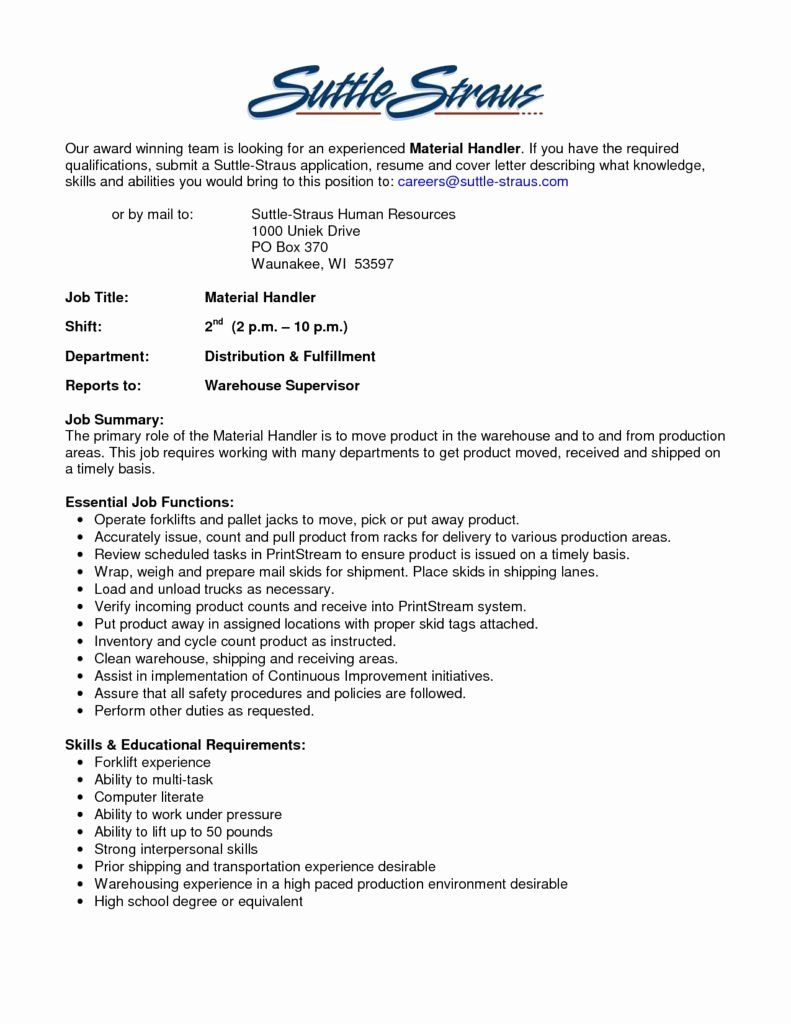 material handler job description resume luxury the best samplebusinessresume samplebusi Resume Ups Package Handler Resume