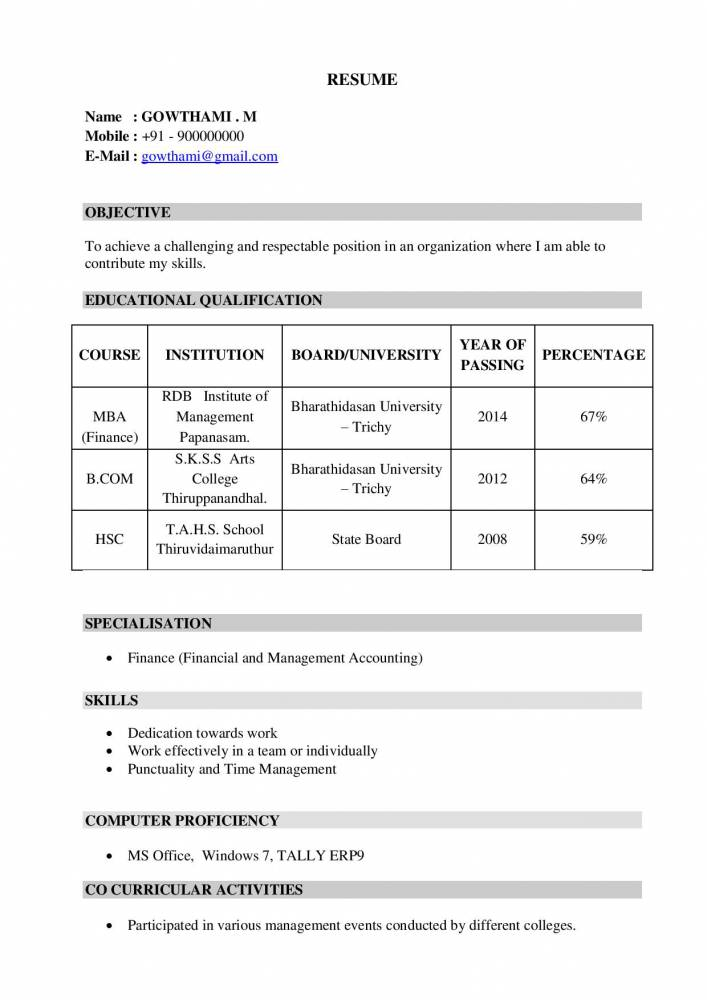 mba freshers resume samples examples now projects student gowthami marketing skills Resume Mba Student Resume Examples