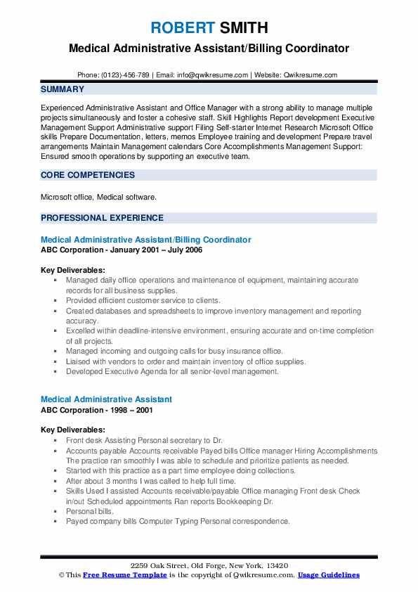 medical administrative assistant resume samples qwikresume pdf professional layout ideas Resume Medical Administrative Assistant Resume