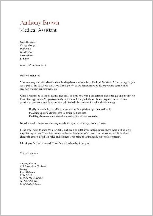 medical assistant cover letter example sample resume letters for resumes assistants Resume Medical Assistant Resume Cover Letter