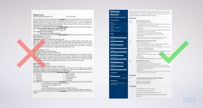 medical billing resume sample writing guide tips and coding example cna experience Resume Medical Billing And Coding Resume