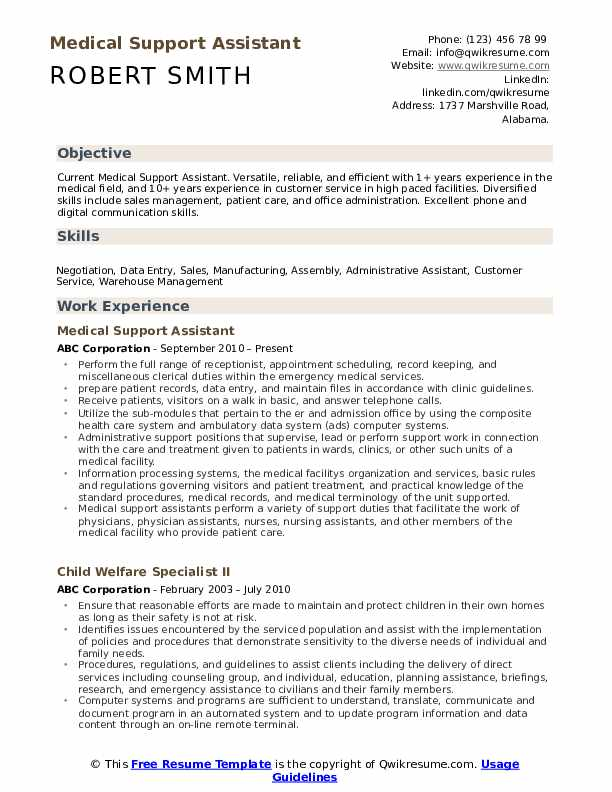 medical support assistant resume samples qwikresume pdf hospice administrator catering Resume Medical Support Assistant Resume