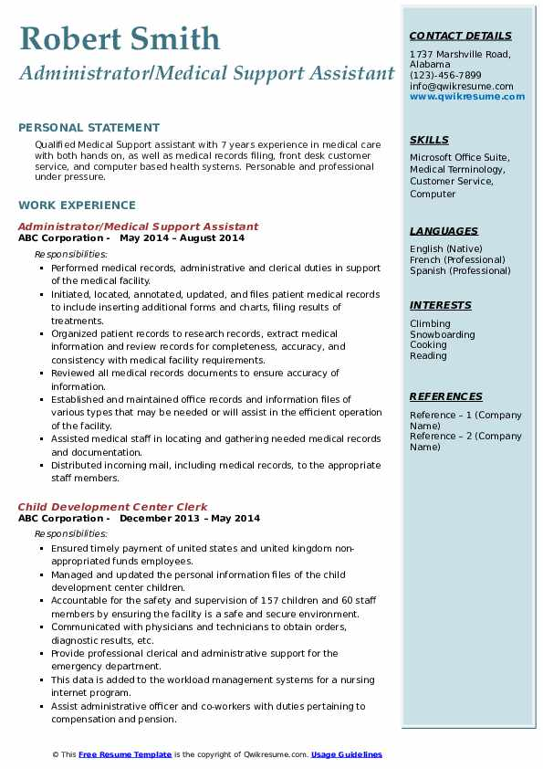 medical support assistant resume samples qwikresume pdf resubmit technician catering Resume Medical Support Assistant Resume
