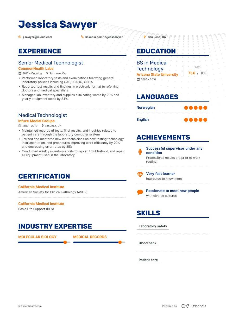 medical technologist resume guide examples fresh graduate generated good for tmobile Resume Medical Technologist Resume Fresh Graduate