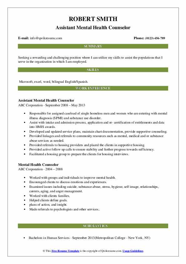 mental health counselor resume samples qwikresume entry level pdf for writing job Resume Entry Level Mental Health Counselor Resume