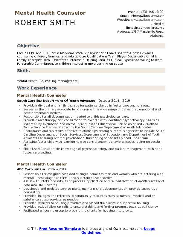 mental health counselor resume samples qwikresume entry level pdf police sergeant senior Resume Entry Level Mental Health Counselor Resume