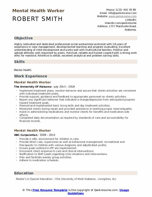 mental health worker resume samples qwikresume for healthcare pdf high school diploma on Resume Resume For Healthcare Worker