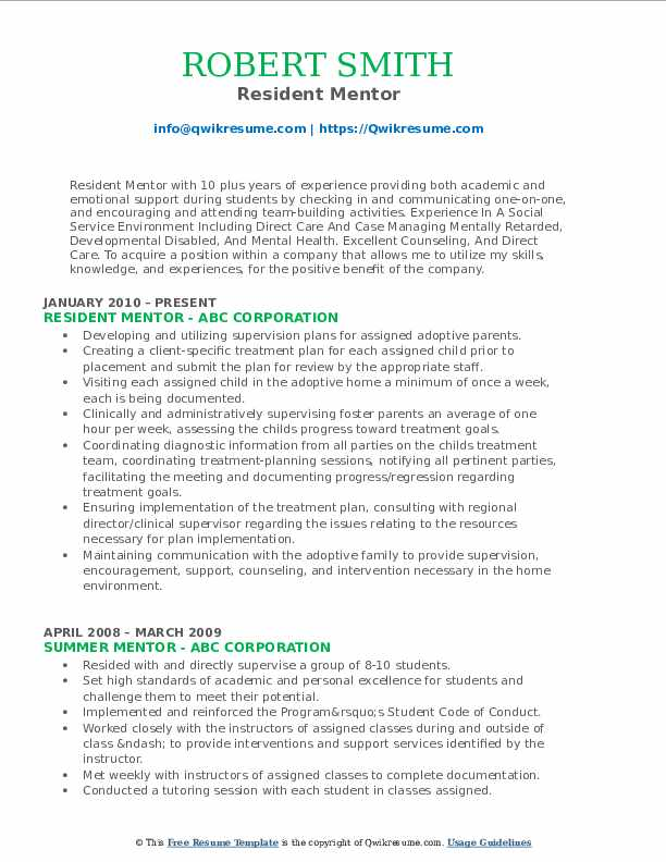 mentor resume samples qwikresume line about mentoring pdf contemporary templates free Resume Resume Line About Mentoring