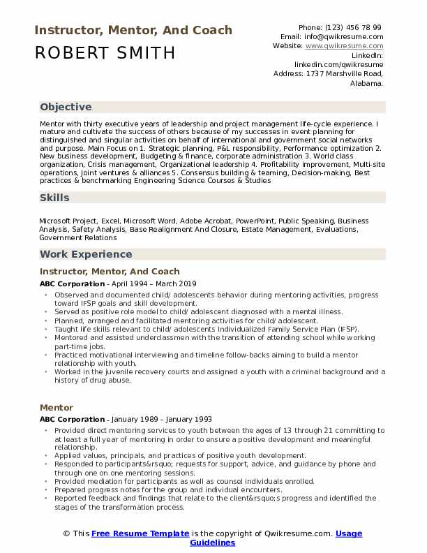 mentor resume samples qwikresume line about mentoring pdf functional for warehouse worker Resume Resume Line About Mentoring