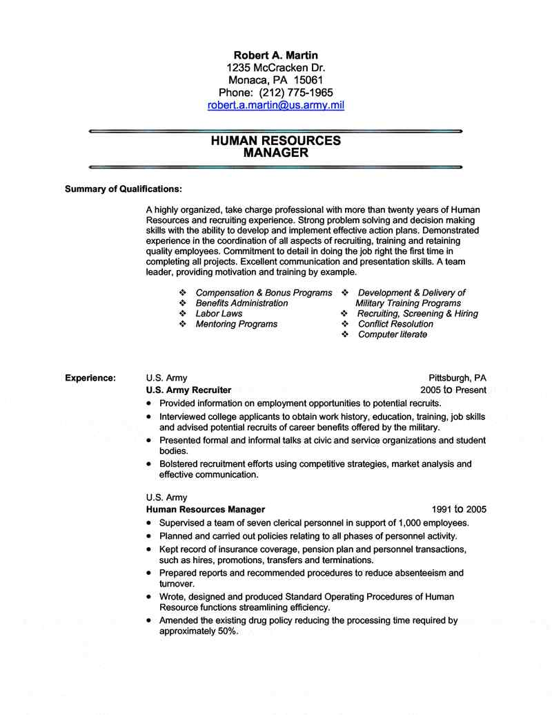 military transition resume writing civilian for the first time service human resources Resume Military Resume Writing Service