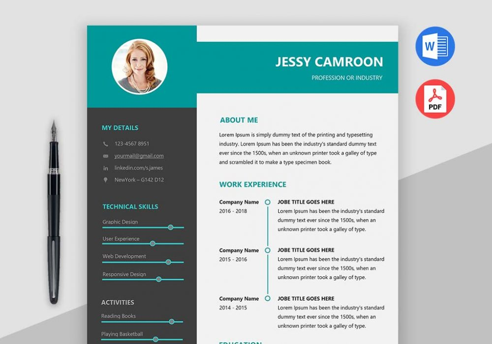 modern clean resume template free maxresumes above 1000x700 job word medical coding Resume Modern Resume Template Free Download
