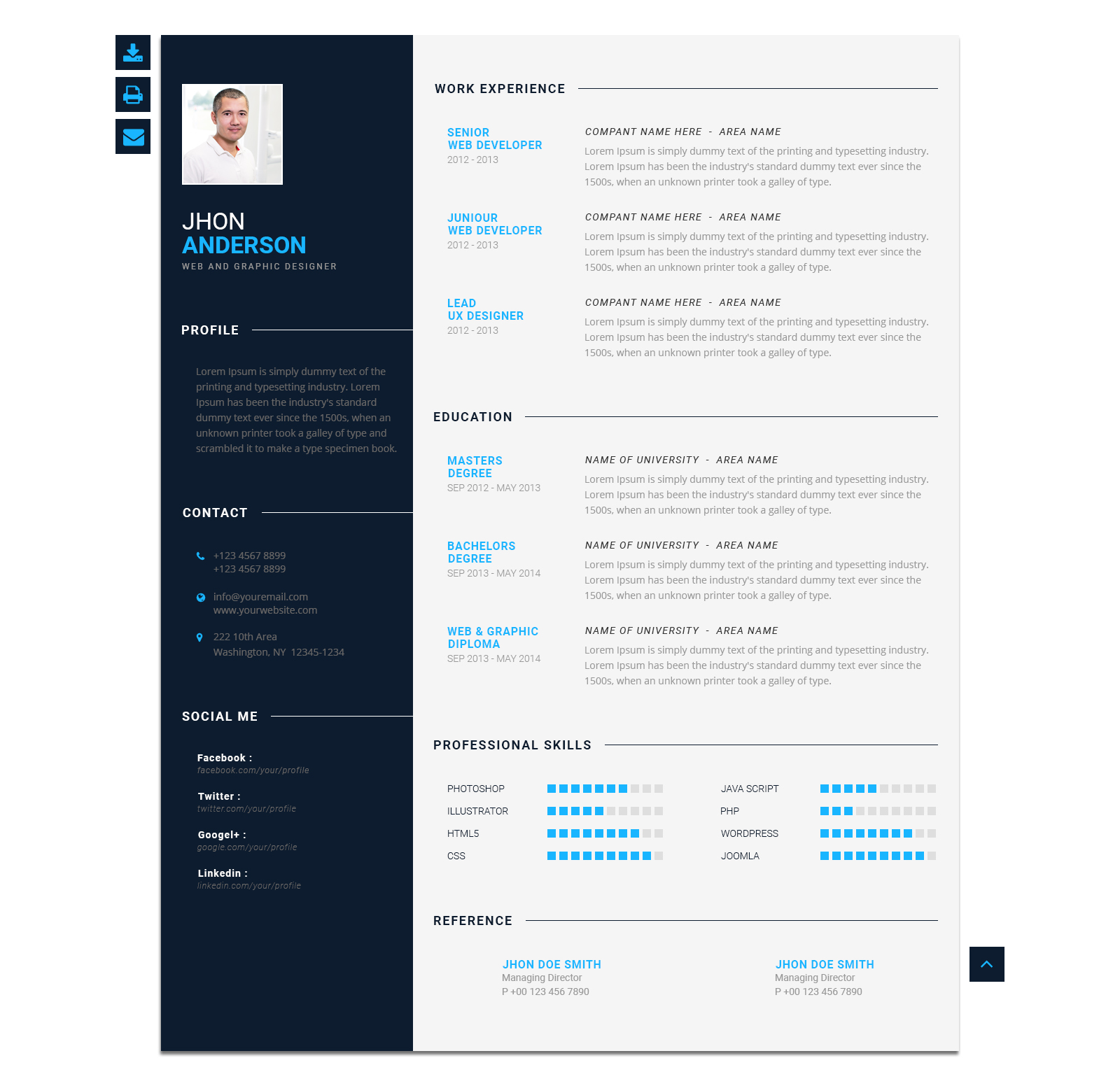 modern cv personal resume template by blendthemes themeforest with pca sample google tips Resume Modern Resume Template With Picture
