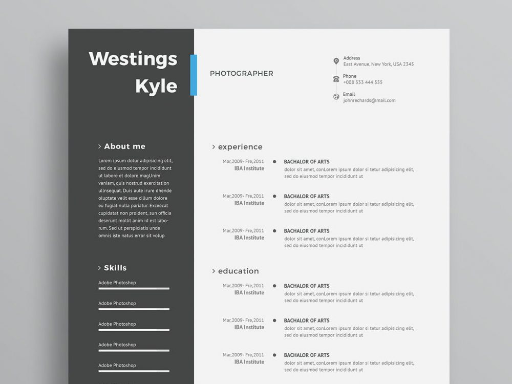 modern free resume template maxresumes templates for word self employed description Resume Free Modern Resume Templates For Word