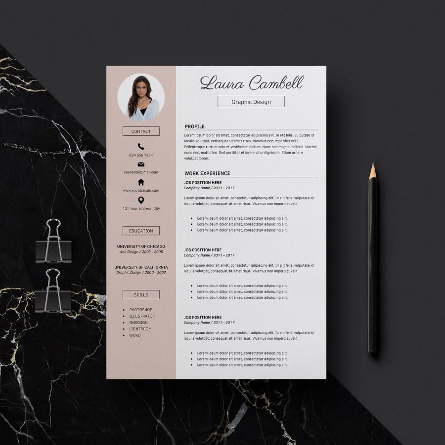 modern resume template cv for word cover letter references teacher professional instant Resume Professional Teacher Resume Template