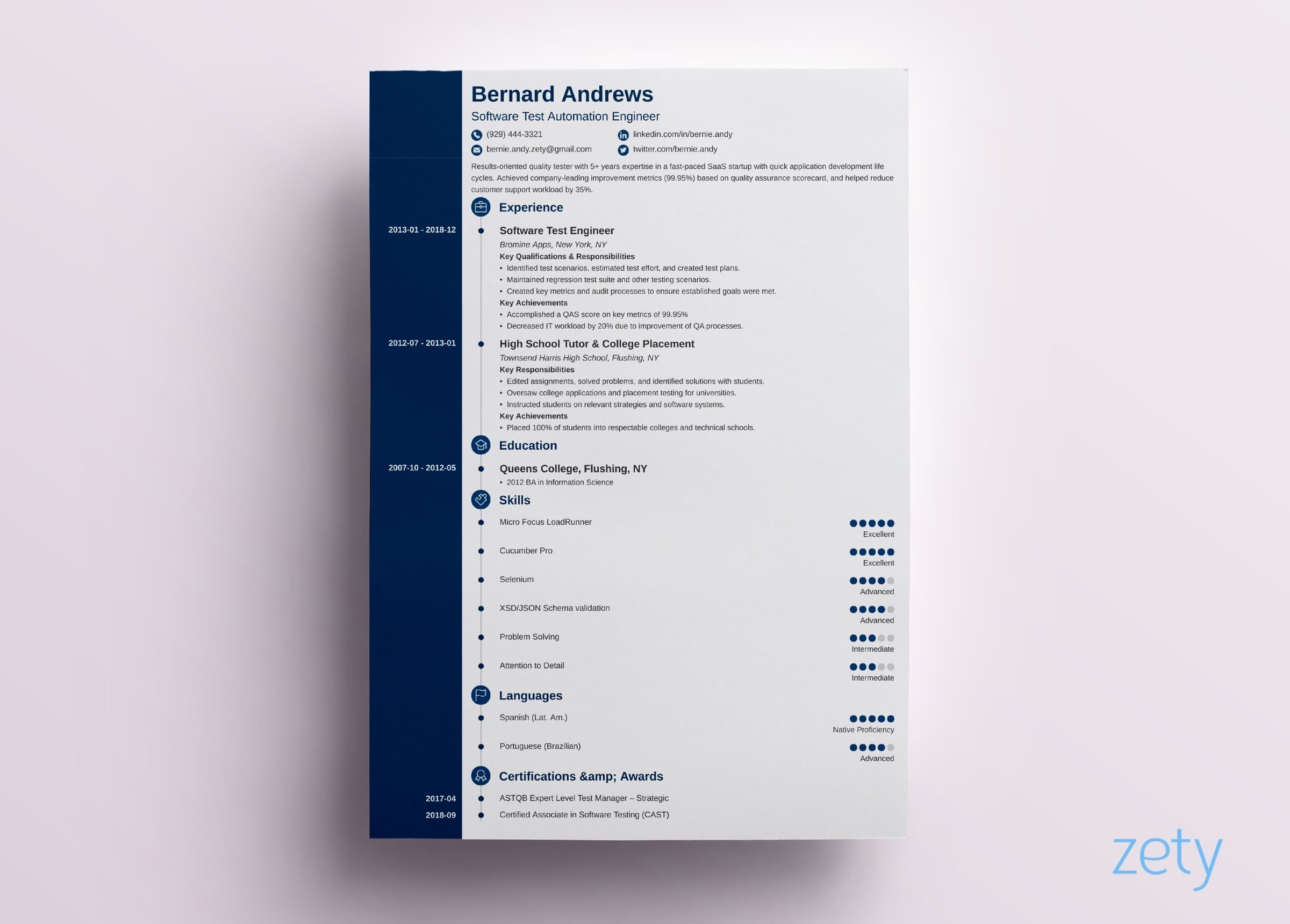 modern resume template format examples for best templates concept airport management Resume Best Modern Resume Template