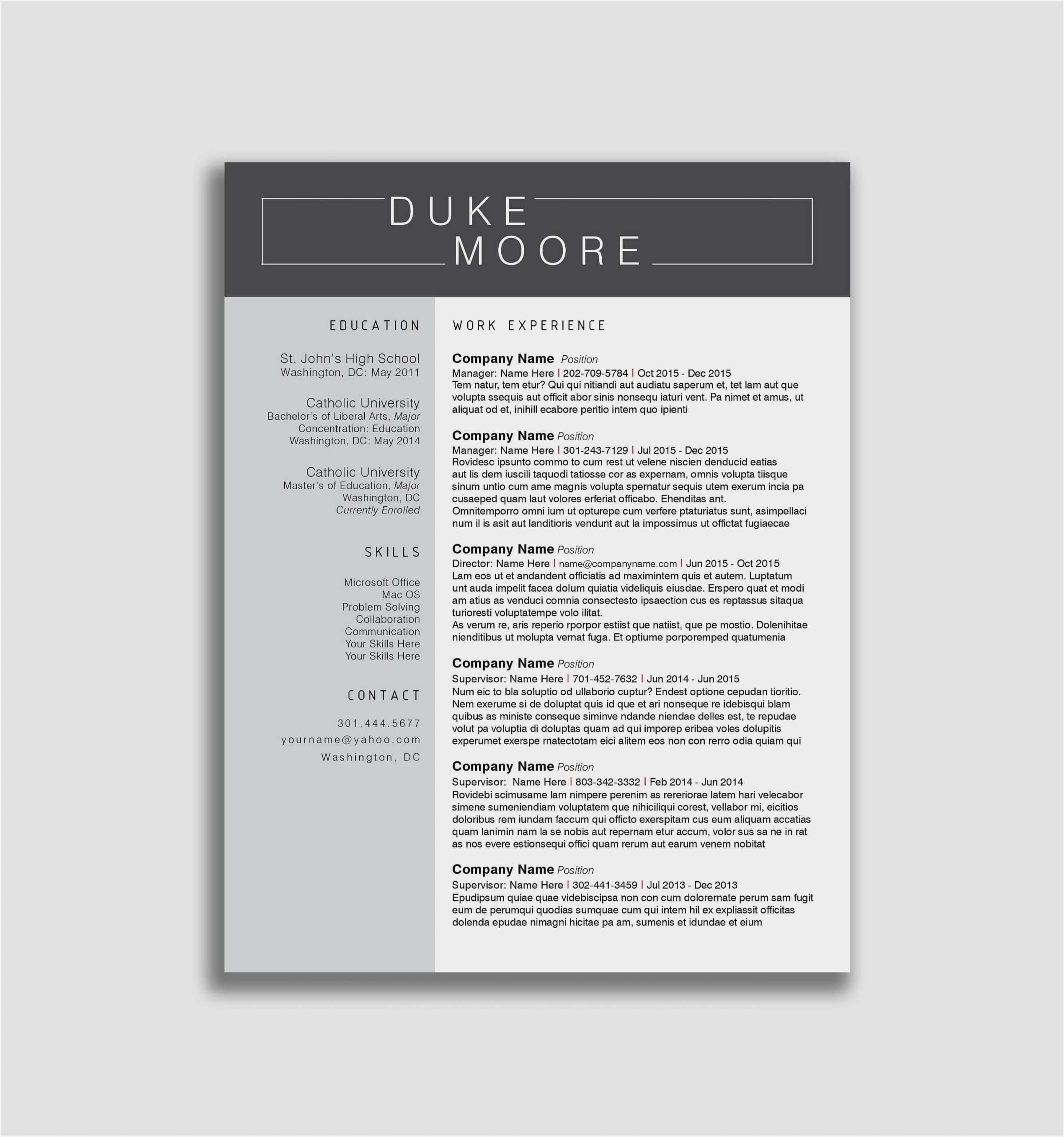 modern resume template free sample templates for word scaled kaiser civil engineering Resume Free Modern Resume Templates For Word