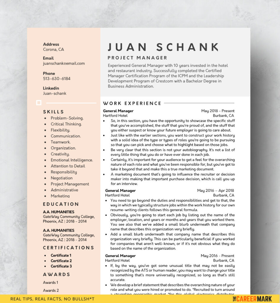 modern resume template free the career mark best templates word 945x1024 commercial Resume Best Resume Templates 2020 Free Download Word