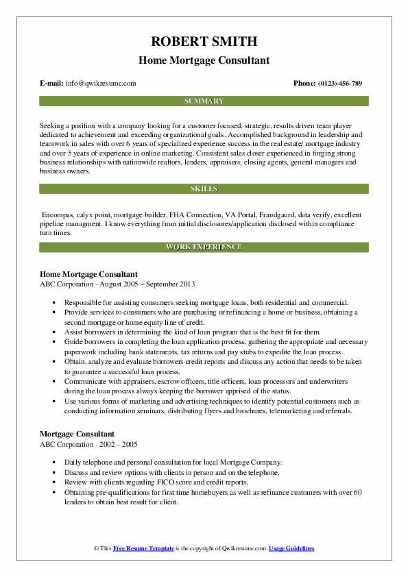 mortgage consultant resume samples qwikresume pdf examples for technical skills Resume Mortgage Consultant Resume