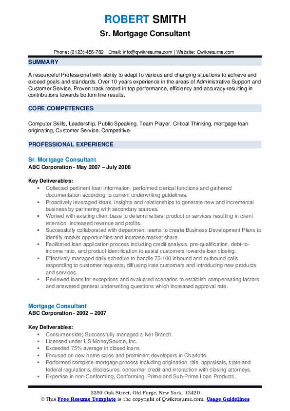 mortgage consultant resume samples qwikresume pdf learning skills entry level Resume Mortgage Consultant Resume