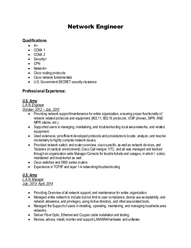 network engineer resume sample generator free ccie routing and switching chief security Resume Network Engineer Resume Sample