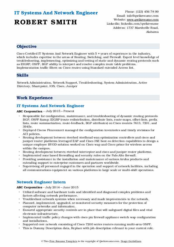network engineer resume samples qwikresume title for pdf combination definition certified Resume Resume Title For Network Engineer