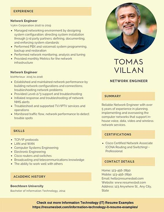 network engineer resume samples templates pdf resumes bot template example lille nantes Resume Network Engineer Resume Template