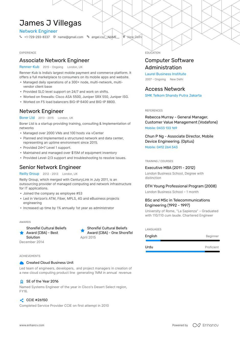 network engineer resume step ultimate guide for enhancv title high school student example Resume Resume Title For Network Engineer