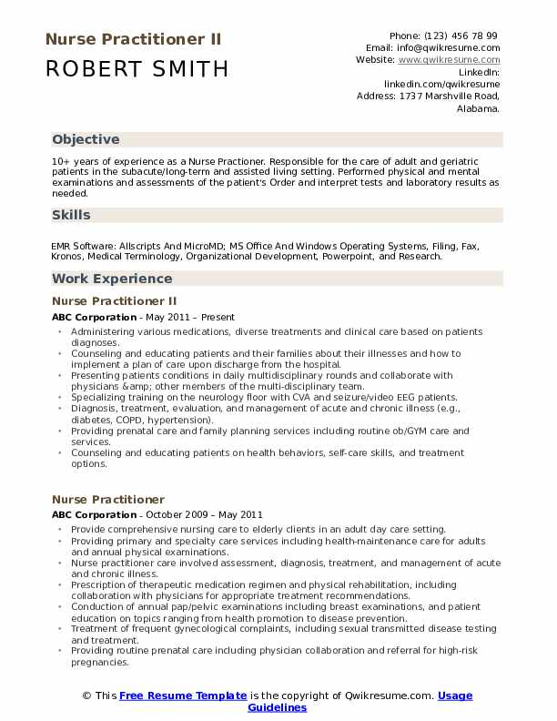 nurse practitioner resume samples qwikresume writing for practitioners pdf control Resume Resume Writing For Nurse Practitioners