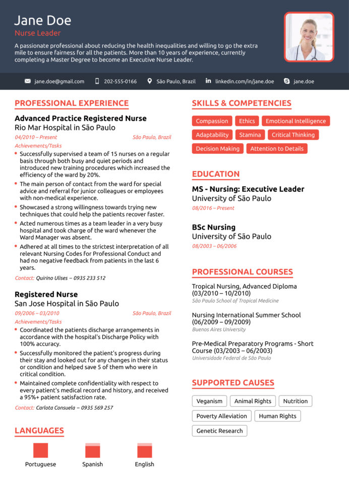nurse resume example to guide for sample format nurses nursing experienced private equity Resume Sample Resume Format For Nurses