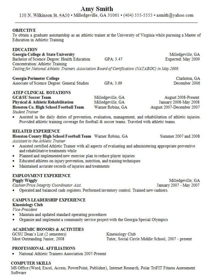objective for resume athletic trainer http resumesdesign skills training and competencies Resume Resume Objective For Trainer