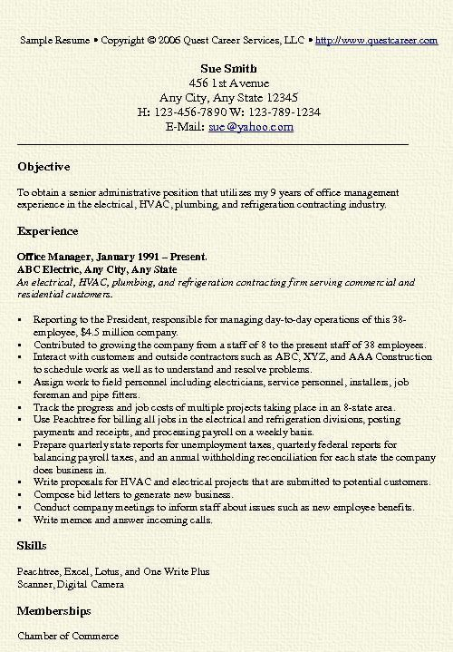 office manager resume administrative assistant contractor seek help modelo para hacer un Resume Contractor Assistant Resume