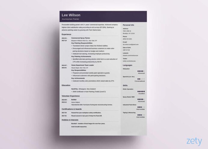 one resume templates examples of format builder selenium cucumber sample current trends Resume One Page Resume Builder