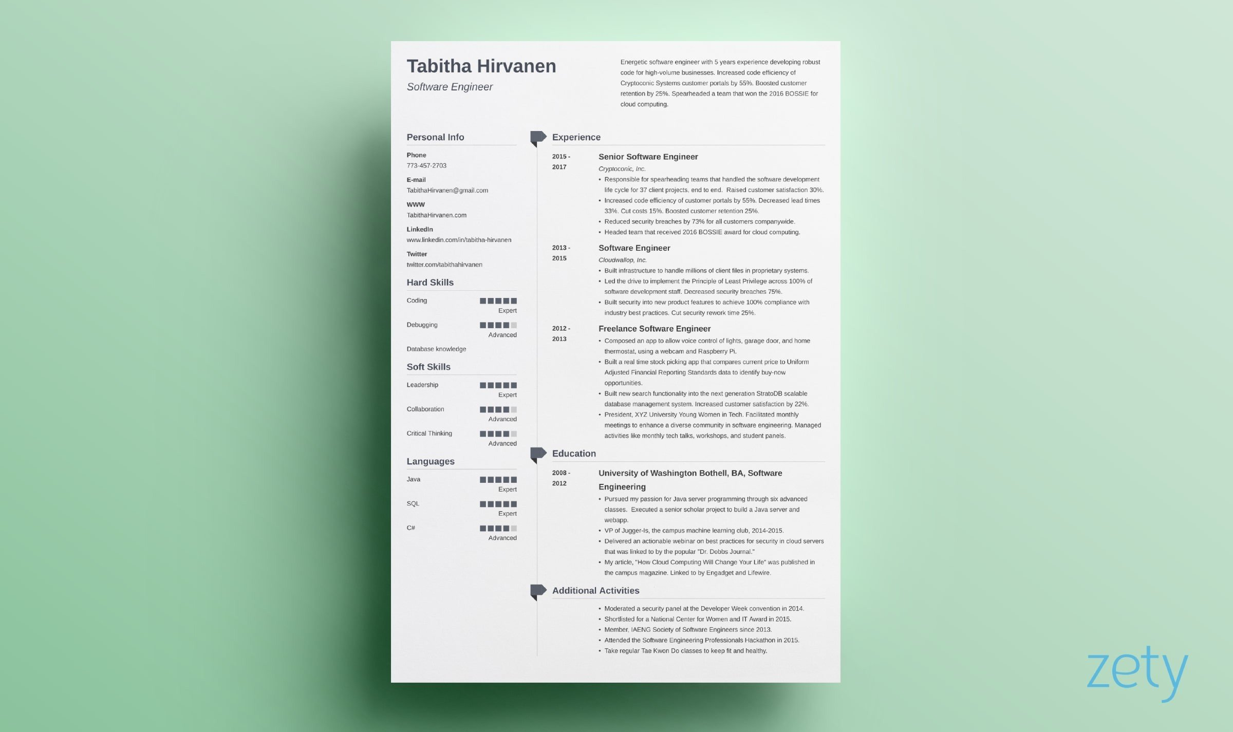 one resume templates examples of format creator muse agent freelance graphic design vim Resume One Page Resume Creator