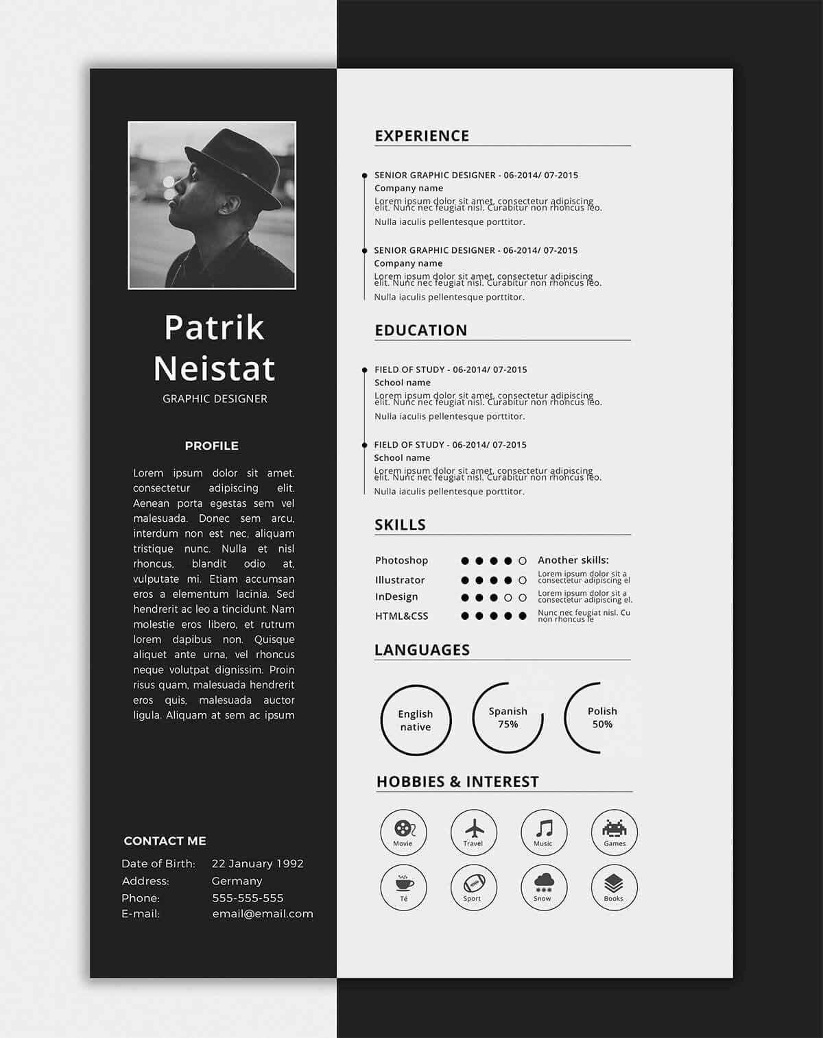 one resume templates examples of format sample interior design junior accountant Resume One Page Resume Sample