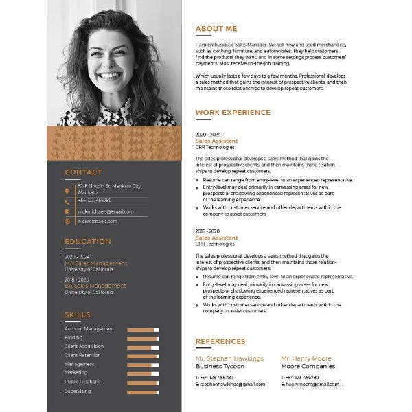 one resume templates free samples examples formats premium sample template1 need template Resume One Page Resume Sample