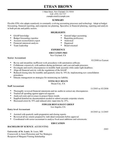 outstanding accounting finance resume examples templates from our writing service sample Resume Sample Resume For Accounting Job
