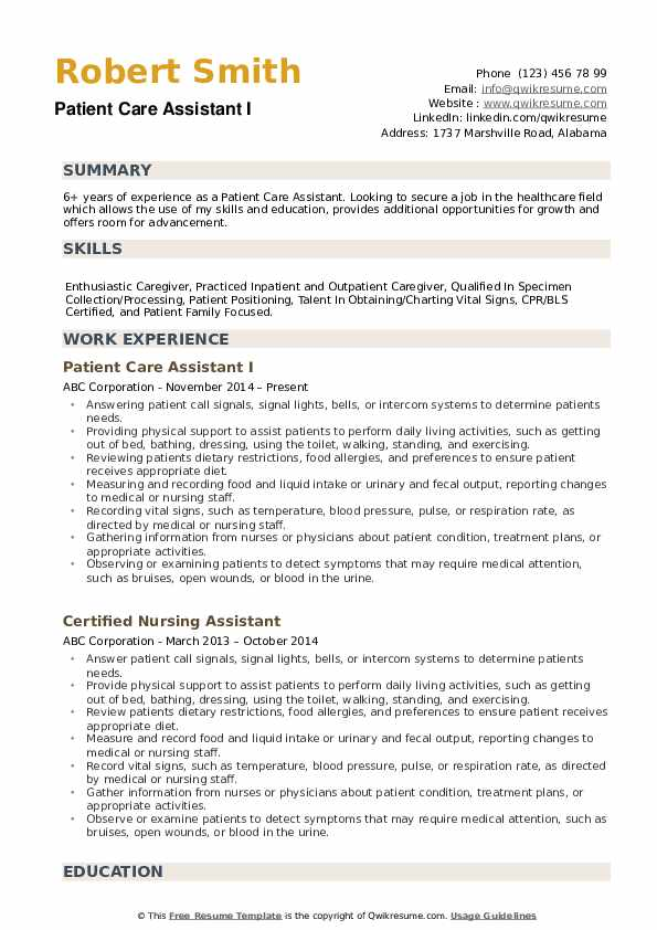 patient care assistant resume samples qwikresume examples for healthcare jobs pdf publix Resume Resume Examples For Healthcare Jobs