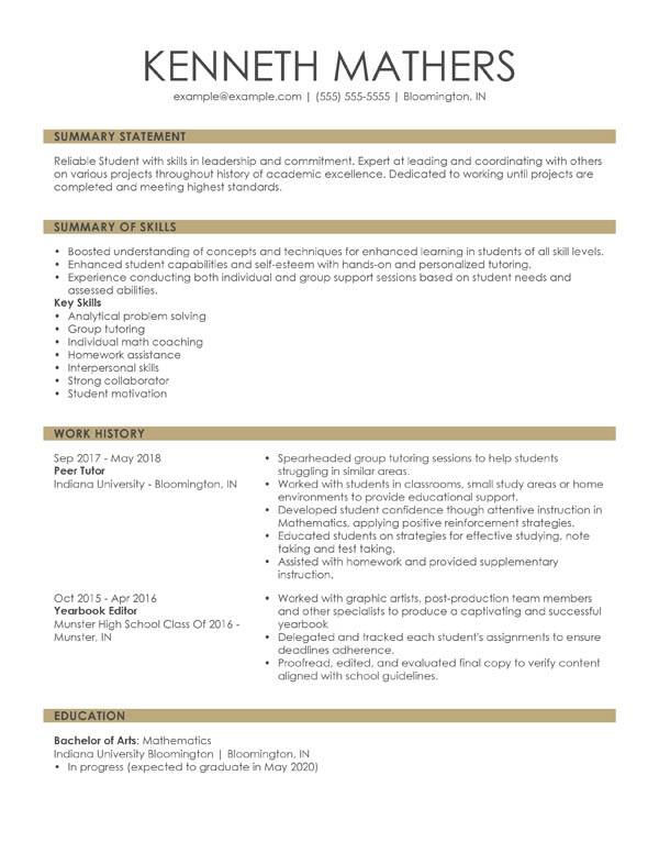 perfect resume examples for my sample combination student sound editor media account Resume Sample Resume For 2020
