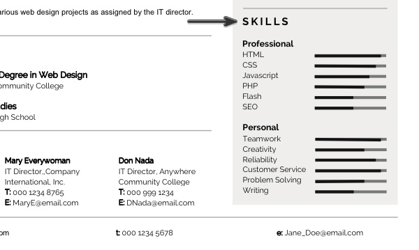 personalize modern resume template in ms word levels of skills on velvet educational Resume Levels Of Skills On Resume