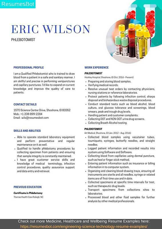 phlebotomist resume samples and tips pdf resumes bot writing example people skills house Resume Resume Writing Tips And Samples