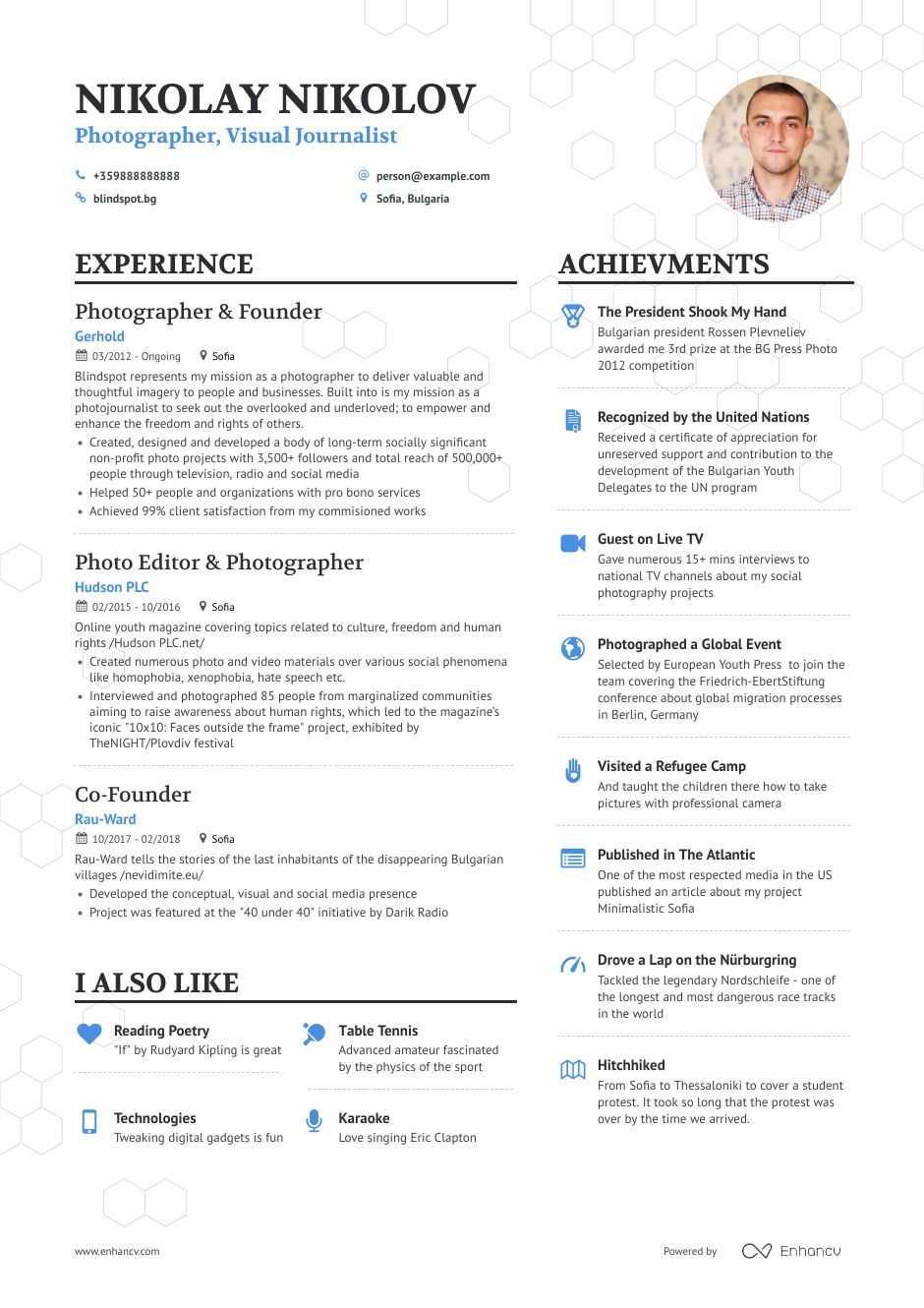 photographer resume samples and writing guide for enhancv professional photography Resume Professional Photography Resume