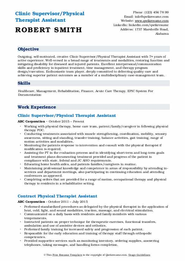 physical therapist assistant resume samples qwikresume job description for pdf non Resume Physical Therapist Assistant Job Description For Resume