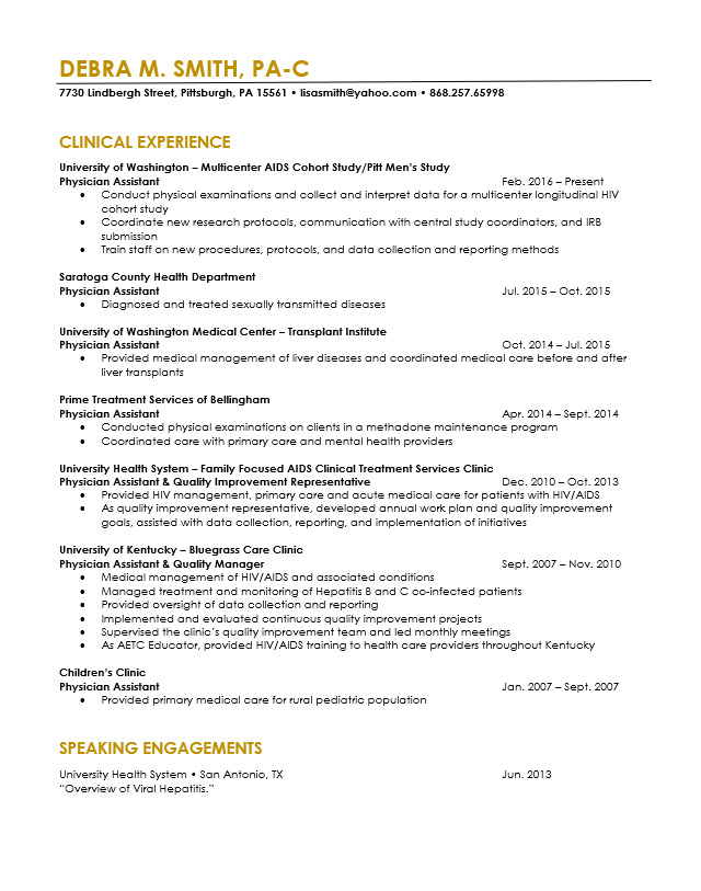 physician assistant resume revision cv cover letter editing the life pa school template Resume Pa School Resume Template